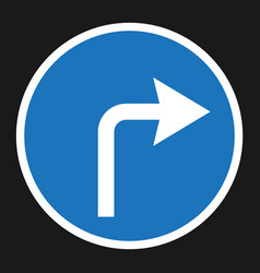 turn right arrow sign flat icon vector image