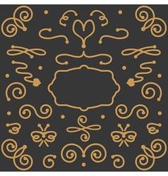 Vintage swirl elements vector