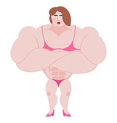 Woman bodybuilder Ggirl is engaged in vector image vector image