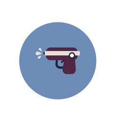 Stylish icon in color circle water gun vector