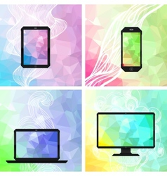 Electronic devices backgrounds vector