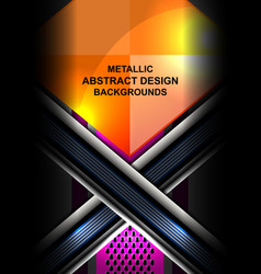 Metallic abstract background design vector
