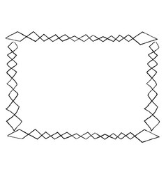 Simple frame with square doodles rectangular shape vector