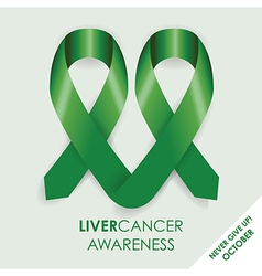 Liver cancer ribbon vector