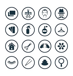 Barbershop icons universal set vector