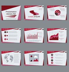 Professional business presentation design vector