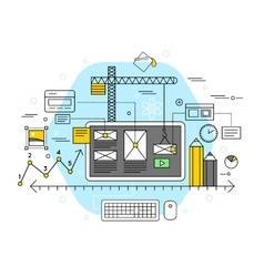 Mobile application flat concept vector