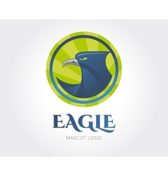 Abstract eagle logo template for branding vector