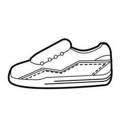 Black silhouette sneaker sport shoes vector