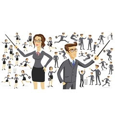 Business people silhouettes Business people vector image vector image