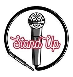 Color vintage Stand up comedy show emblem vector image
