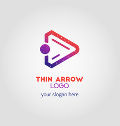 colorful right arrow business logo template using vector image vector image