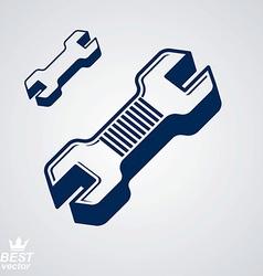 Detailed repair tool service reparation utensil vector