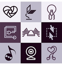 Electronics logo icons vector