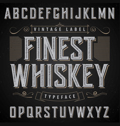 finest whiskey poster vector image