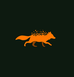 fox icon vector image vector image