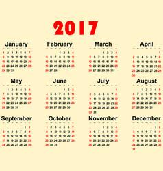 Great new wall calendar 2017 vector