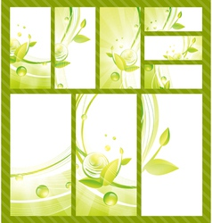 Green Eco Banner Collection vector image