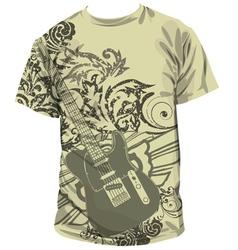 Guitar T-shirt vector image
