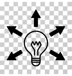 Idea bulb icon vector