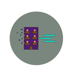 In flat design of building vector