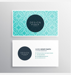 Modern business card in blue pattern vector