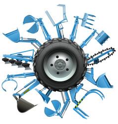Multi tractor wheel vector