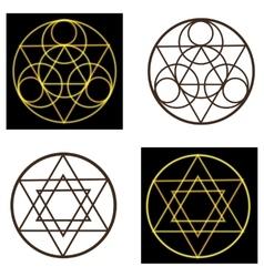 occult symbols vector image