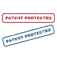 Patent protected rubber stamps vector