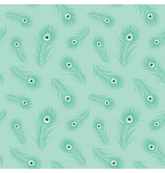 Peacock feather monochrome seamless pattern vector