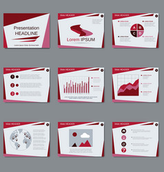 Professional business presentation design vector image vector image