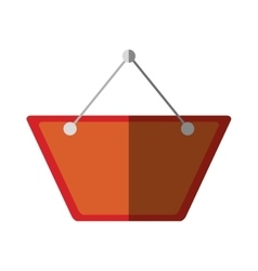 Red card hanging empty color shadow vector