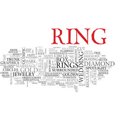 Ring word cloud concept vector