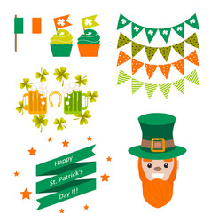 Saint patricks day party objects vector