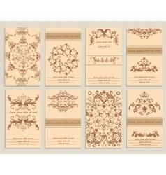 Set booklet design template floral ornamental vector