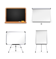 Set of boards for presentation vector
