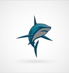 shark blue emblem logo sign vector image