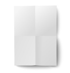 sheet of white paper folded and then unfolded vector image vector image