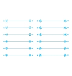 snowflakes divider design vector image vector image