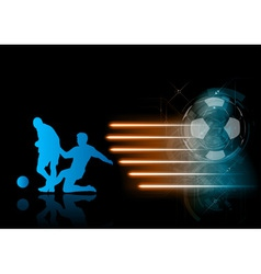 Soccer modern background blue vector