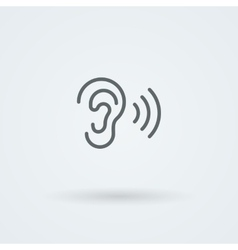 Stock minimalist icon ear vector image