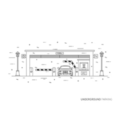 Underground parking graphic design vector