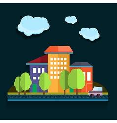 Urban landscape color flat design vector