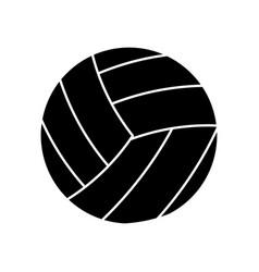 Volleyball ball sport pictogram vector