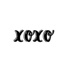 Xoxo brush hand drawn vector