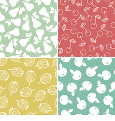Fruits and berry seamless pattern vector