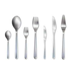 Cutlery reception dinner set realistic image vector