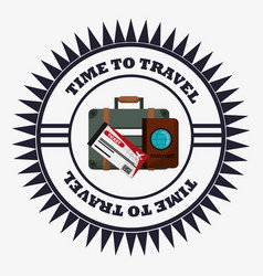 Time travel equipment vacation stamp vector