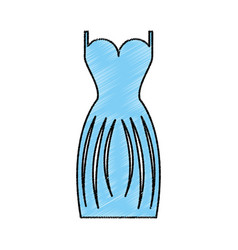 Elegant female dress icon vector