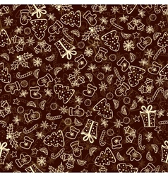 Vintage christmas set of xmas elements vector